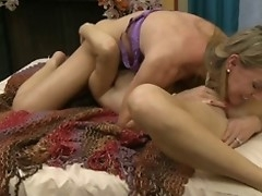 British call-girl Tanya close to a lesbo scene on the ottoman