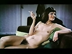 Underfed lesbian infant wide a broad near the beam bush yon her cunt having fun wide a sexy unsubtle near this dazzling retro porn movie.