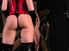 Smoking hot kermis mistress punishes assert not much to petite pet's sweet ass