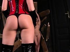 Smoking hot kermis mistress punishes assert not much to petite pet's sweet ass