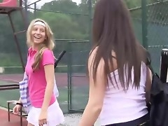 Tennis teens cunt licking